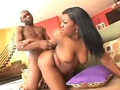 Black plumper crazy fucked by guy