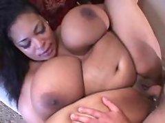 Man fucks fat ebony with huge boobs
