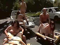 Fatties having orgy in parking lot