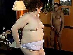 Chubby mature lady spoils latin guy