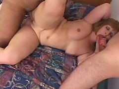 Guys fuck BBW n jizz on her big ass