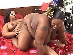 Fat ebony lesbian fucks black BBW