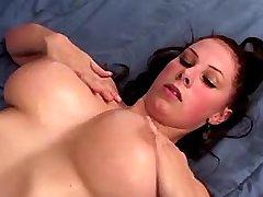 Busty hottie titsfucks and gets cum