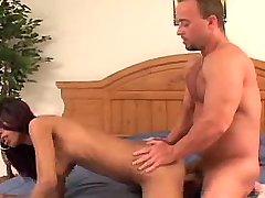 Hot ebony babe with big tits fucked