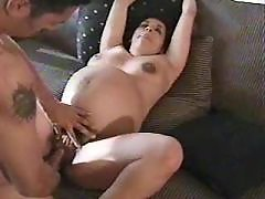 Man hard fucks lusty pregnant girl