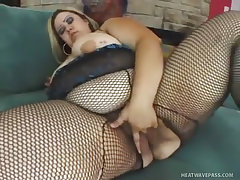 Mistress monique almost breaks the sofa